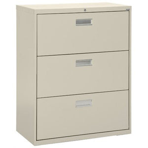 "Sandusky Lee LF6A423-02 600 Series 3 Drawer Lateral File Cabinet, 19.25"" Depth x 40.875"" Height x 42"" Width, Charcoal"