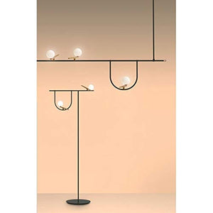 Artemide Yanzi Floor LED 20W 3000K Floor Lamp Brass Glass Neri&Hu
