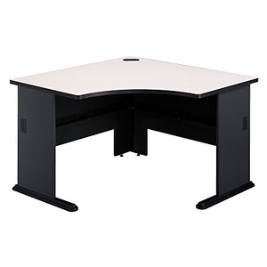 Bush Business Furniture Series A 48W Corner Desk in Slate and White Spectrum