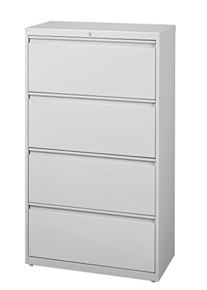 Pro Series Four Drawer Lateral File Cabinet, Light Gray, 30 inches Wide (22327)