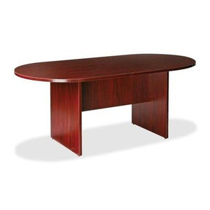 "Lorell LLR87272 Oval Conference Table, Top and Base, 72"" x 36"" x 29-1/2"", Mahogany"