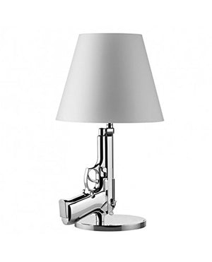 Flos Guns Bedside Gun Table Lamp Shiny Gold 18K F2953000 by Philippe Strack 2005