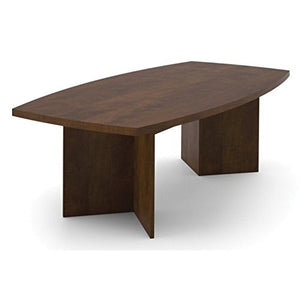Scranton & Co 8' Boat Shaped Conference Table in Chocolate