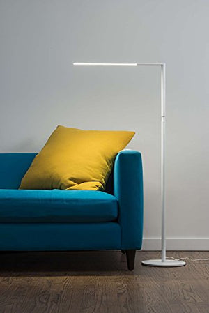Koncept Lady 7 LED Floor Lamp Light with USB charging port in Matte White