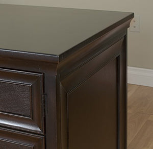 "Martin Furniture Fulton 61"" Space Saver Double Pedestal Desk - Fully Assembled"