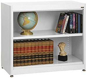 "Sandusky Lee BA1R361830-22 Elite Series Radius Edge Welded Bookcase, 18"" Length x 30"" Height x 36"" Width, White"
