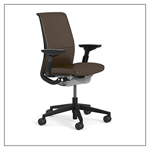 Steelcase Think Chair (R) - Matching Back and Seat Fabric by Steelcase, fabric = Espresso Leather; frame/base = Black/Black