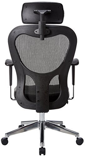 Lorell High-Back Executive Chair, 24-7/8 by 23-5/8 by 52-7/8-Inch, Black