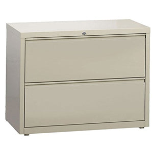 "Hirsh Industries LLC 10000 Series Lateral 36"" Wide 2 Drawer File Cabinet in Putty"