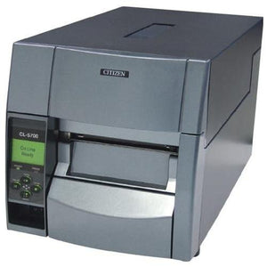 "Citizen America CL-S700 CL-S700 Series Thermal Transfer/Direct Thermal Barcode and Label Printer with Adjustable Sensor, RS-232 Serial, 4"" Maximum Print Width, 203 DPI Resolution, Black"