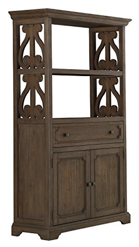 "Homelegance 5438-19 Antique Bookcase, 72"" H, Gray"