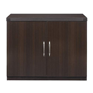 "Mayline ASCLDC Aberdeen 36""W Storage Cabinet with 2 Doors, Mocha Tf"