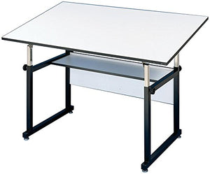 Alvin WM48 3 XB Workmaster Table, Black Base White Top 36 inches x 48 inches