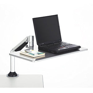Safco Products 2132SL Desktop Sit/Stand Workstation for Laptop, Silver