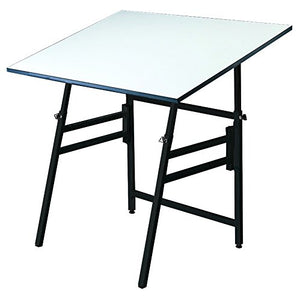 "Alvin Professional Table, Black Base White Top 36"" x 48"""