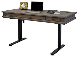 Martin Furniture IMCA384T-KIT Complete Sit/Stand Desk, Weathered Dove