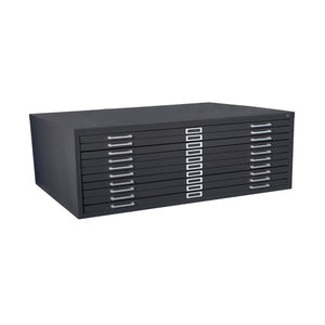 "Sandusky 244885BK Heavy Duty Welded Steel 10 Drawer Flat File Storage Cabinet, 46-3/4"" Width x 16-1/8"" Height x 35-3/8"" Depth, Black"