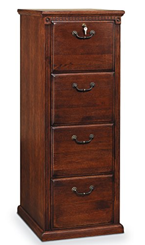 Martin Furniture Huntington Oxford 4-Drawer File Cabinet, Burnish Finish, Fully Assembled