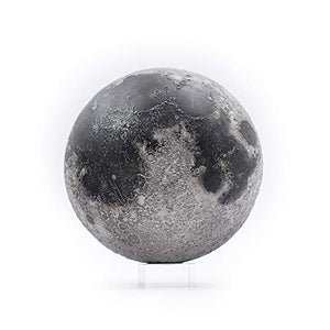 AstroReality LUNAR Pro | Smart Moon Globe | 3D Printed, Hand Painted, 4.72"