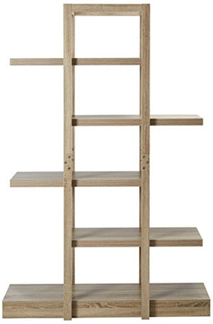"Monarch Specialties I 2539, Bookcase Open Concept, Display Etagere, Dark Taupe,71""H"