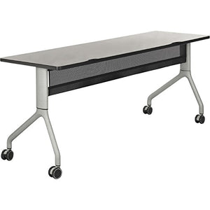 Safco Rumba Rectangular Nesting Table — 72in. x 24in., Gray/Silver, Model# 2043GRSL