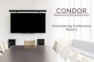 Condor MT600 - Beamforming Microphone Array for Video Conferencing - Any Size Conference Room - Wall Mounting Option - USB, Analog, and SIP Connectivity