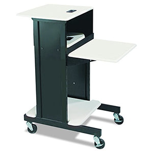 BALT 89759 Adjustable Presentation Cart, 18w x 30d x 40-1/4h, Black/Gray