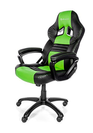 Arozzi Monza Series Gaming Racing Style Swivel Chair, Green/Black