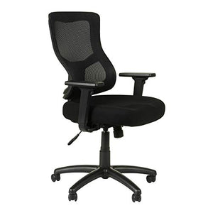 Alera ALEELT4214S Elusion II Series Mesh Mid-Back Synchro with Seat Slide Chair, Black