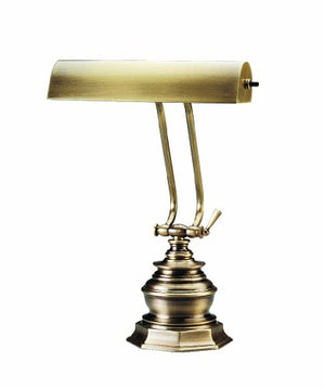 House Of Troy P10-111-71 14-Inch Portable Desk/Piano Lamp, Antique Brass