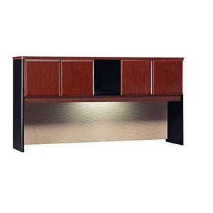 Bush Business Furniture Series A Collection 72W Hutch in Hansen Cherry/Galaxy