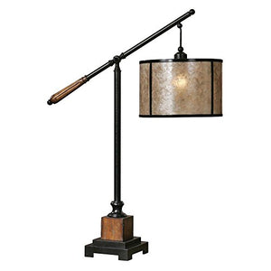 "Sitka 35-1/2"" Table Lamp Aged Black/Rustic Mahogany Detail Dimensions: 12""W X 12""D X 35.5""H Weight: 22 Lbs"