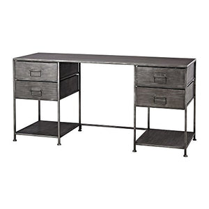 Sterling Home 351-10284 Gunthery 4-Drawer Graphite Desk,