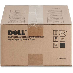 Dell PF029 Color Laser Printer 3110cn 3115cn Toner Cartridge (Cyan) in Retail Packaging