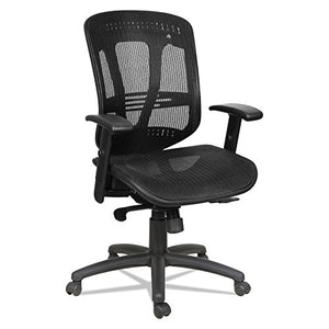 Alera ALEEN4218 Eon Series Multifunction Wire Mech, Mid-Back Suspension Mesh Chair, Black