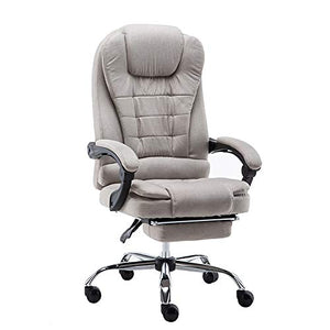 ZZHF Swivel Chair, Cloth Company Lounge Chair Study Office Computer Chair Lifting 360° Swivel Chair, 2 Colors - Adjustable Tilt Cushioned Seat (Color : B, Size : with Pedals)