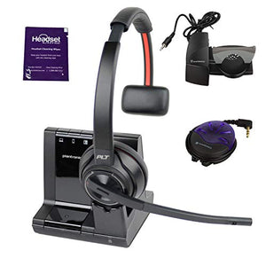 Plantronics Savi 8210 Wireless Headset System Bundle with Lifter, Busy Light and Headset Advisor Wipe- Professional Package
