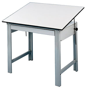 "Alvin DM60ND DesignMaster Table, 37.5"" x 60"" Top, Gray"