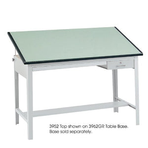 "Safco Products 3952 Precision Table Top, 60""W x 37 1/2""D for use with 3962GR Table Base, sold separately, Green"