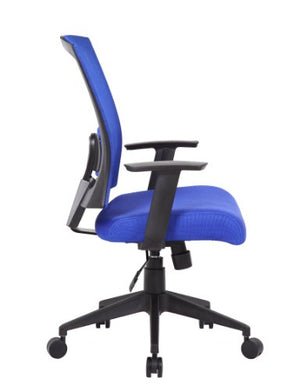 Boss Office Products B6706-BE Mesh Back Task Chair in Blue