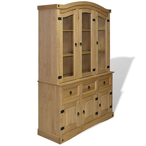 vidaXL Buffet Hutch Mexican Pine Corona Range Display Cabinet Unit Bookcase