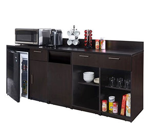 Breaktime 3 Piece 2728 Coffee Break Lunch Room Furniture, Fully Assembled Ready-to-Use Group, Elegant Espresso