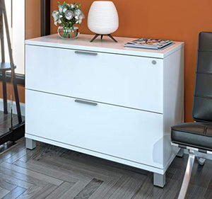 Bestar 120636-1117 Pro Linea Assembled Lateral File Drawer, White
