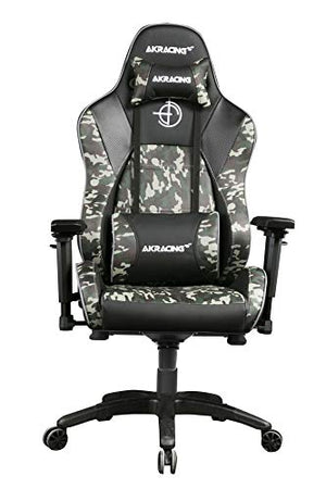AKRacing Masters Series Premium Gaming Chair with High Backrest, Recliner, Swivel, Tilt, 4D Armrests, Rocker and Seat Height Adjustment Mechanisms with 5/10 Warranty - Camouflage