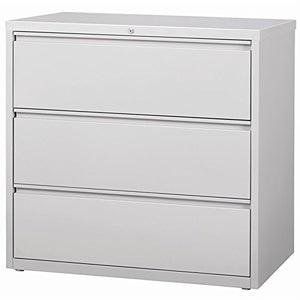 "Hirsh HL8000 Series 42"" 3 Drawer Lateral File Cabinet in Light Gray"