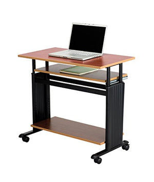 Safco Products 1926CY Muv Adjustable-Height Desk, Cherry