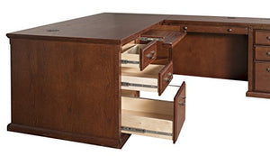 Martin Furniture Huntington Oxford Office Right L-Shaped Desk, Burnish Finish