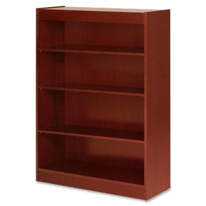 "Lorell 89052 4 Shelf Panel Bookcase, 36""x12""x48"", Cherry"