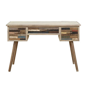 Felix Desk in Artist Palette with Storage And Telescoped Wood Legs, by Artum Hill