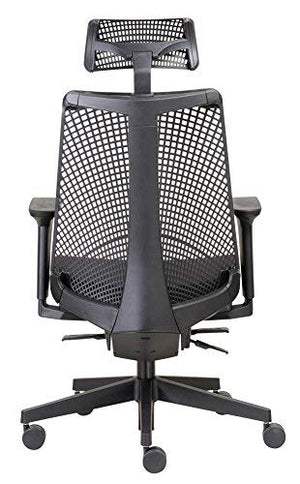 Boss Office Products B6550-BK-HR Contemorary Executive Chair with Headrest in Black
